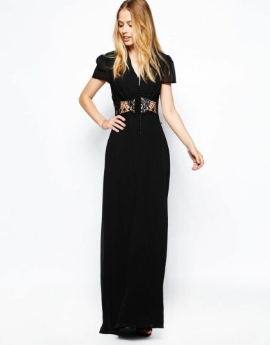 Evening Rrp Party Kelly Dress Black Wedding Eu36 Jarlo Us4 Uk8 £85 Size Maxi OgIxfWEqn