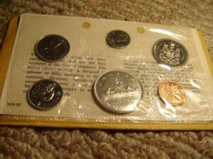1968-Canada-PL-RCM-Set-6-Coins-Mint-UNC