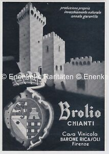 Brolio-Chianti-Casa-Vinicola-Barone-Ricasoli-Firenze-Werbung-1939
