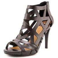 Fergalicious Womens NEW Histeria Caged Dress Sandals Black 8.5 M
