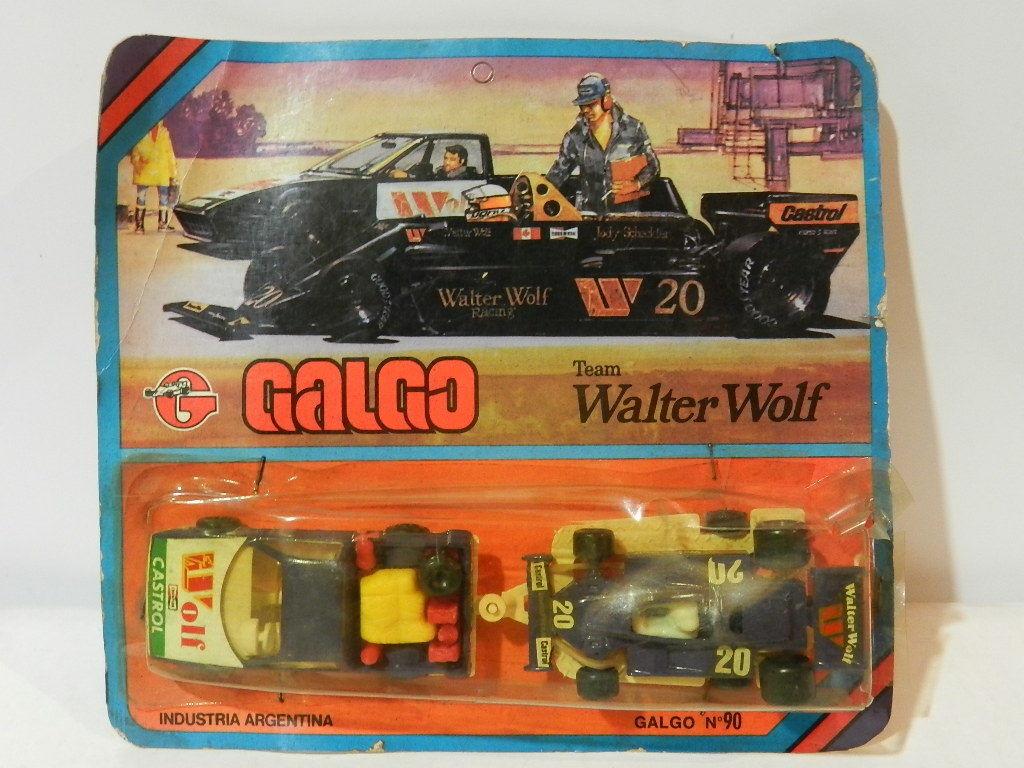 Équipe F1 Walter Wolf Die-cast métal marque Galgo années 1980 1 64 Nº 90 RARE