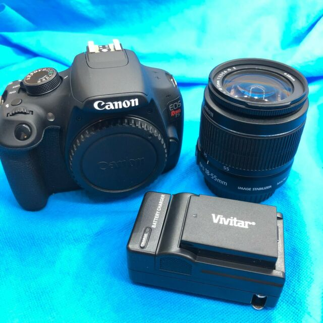 Canon T5 18.0MP Digital SLR - Black (Kit w/ EF-S 18-55mm Lens) ⚡✈️ SHIPS SAME Da