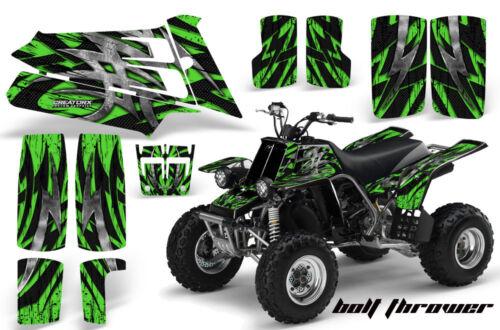 YAMAHA BANSHEE 350 CREATORX GRAPHICS KIT BOLT THROWER GREEN BLACK