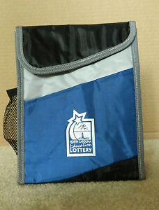 Details about NEW NORTH CAROLINA EDUCATION LOTTERY LUNCH BAG (BOX)  INSULATED, BLUE, BLACK,