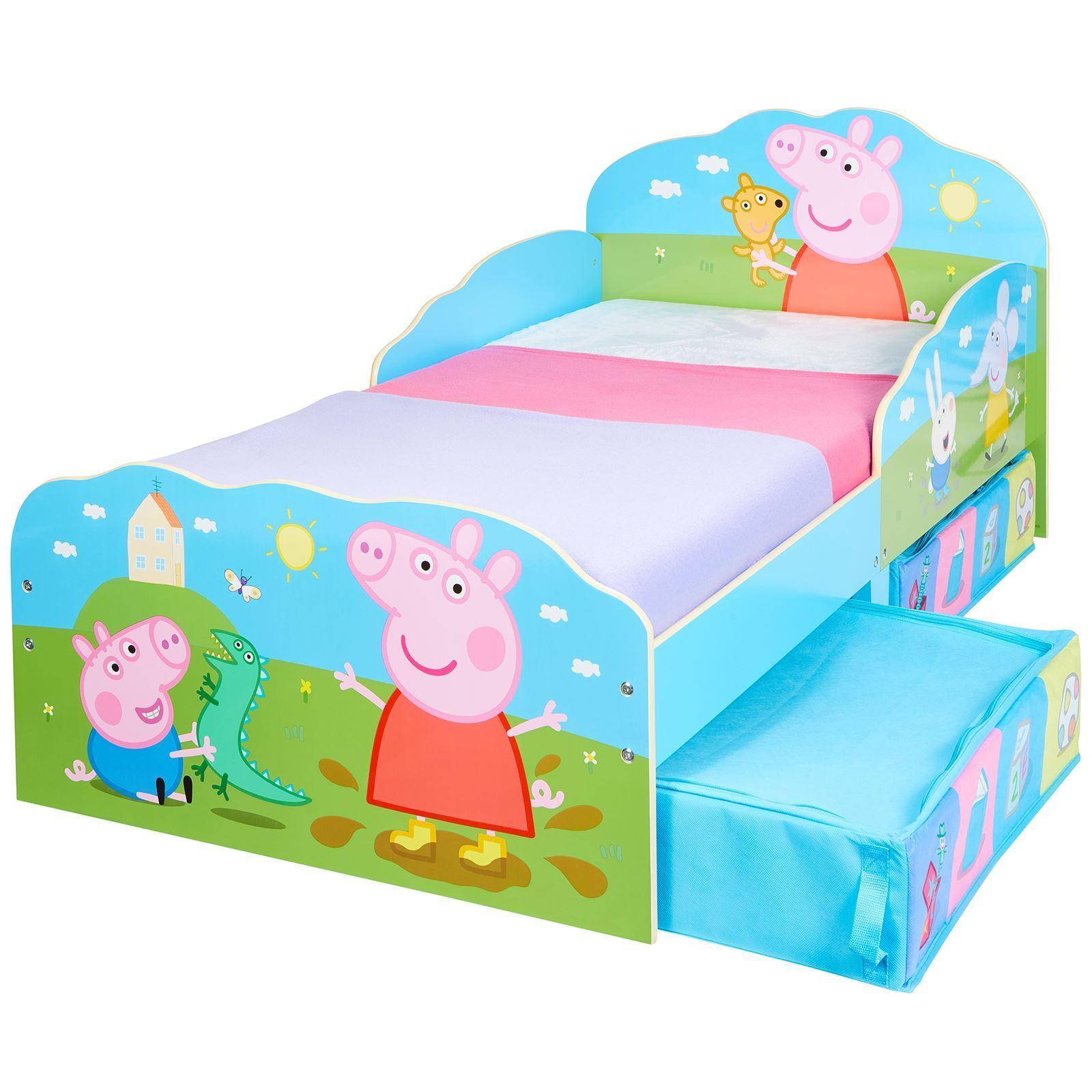 Peppa Pig Junior Bébé lit avec de rangement dessous de lit + 3 Matelas Options