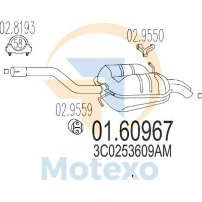 100% Vero Mts 01.60967 Scarico Volkswagen Passat 2.0 Tdi Td 140bhp 03/05 - 05/09- Una Grande Varietà Di Modelli