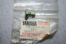 nos Yamaha snowmobile float bowl plug srx440 xlv pz480 vt480 vk540 et340