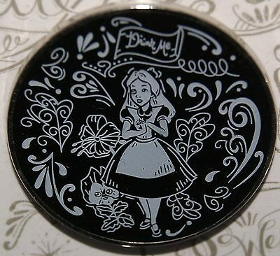 Disney Alice Drink Me Chalk Sketch Booster Pin
