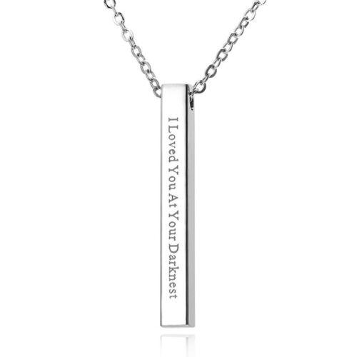 Personnalisé Personnalisé Acier Inoxydable Nom Motif Collier Pendentif À faire soi-même Jewelry