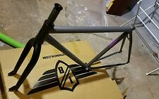 FGFS volume thrasher medium frame 50cm raw,and a  concept Assassin fork black