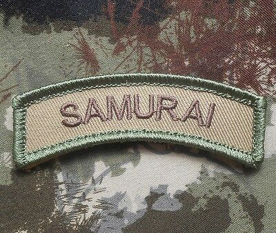 SAMURAI ARMY TAB ROCKER TACTICAL MORALE MULTICAM VELCRO® BRAND FASTENER PATCH