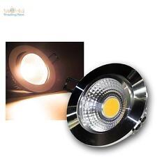 LED empotrado blanco cálido 7W COB, Aluminio pulido, 230V Foco De Empotrar