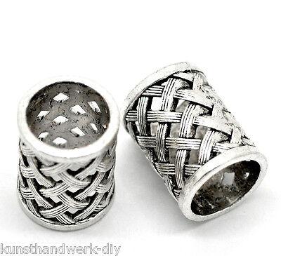 Großverkauf Mix Antiksilber Strass Herz Anhänger Perlen Beads
