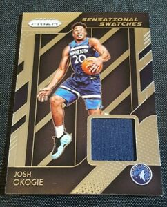 2018-19-Panini-Prizm-Josh-Okogie-Sensational-Swatches-Jersey-Rookie-RC-Patch