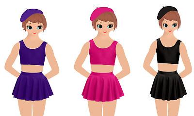 Kids Girls Circular Stretch Dance Skirt Ballet Skating Tap Jazz Gymnastics 3-13