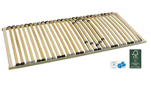 7-Zonen-Lattenrost starr 90x200 cm mit individueller Härtegradverstellung