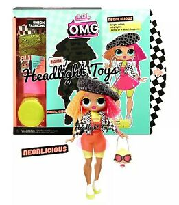Details About 1 Lol Surprise Omg Neonlicious 10 Fashion Doll Neon Qt Holiday Winter Disco