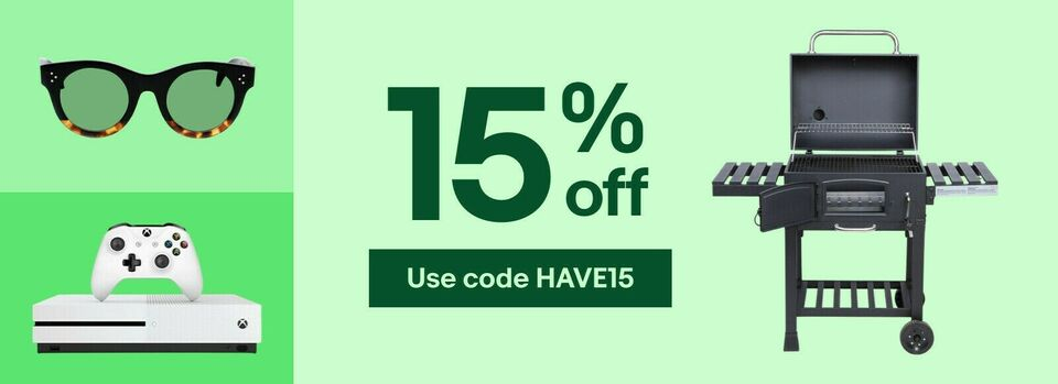 Use code HAVE15 - Your 15% off coupon is here