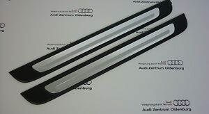 Original-Audi-Seuils-de-Porte-Audi-Q2-2-teilig-Insert-de-Decoration-Aluminium
