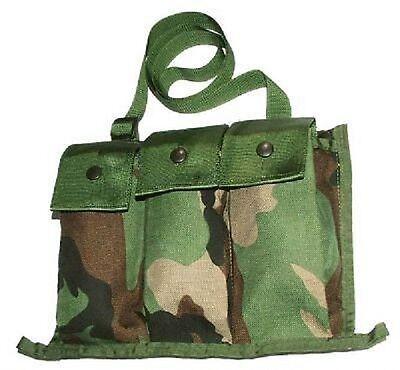 Frank Us Army M16 M4/ R15 6 Magazine Bandoleer Mag Pouch Tasche Woodland Camouflage