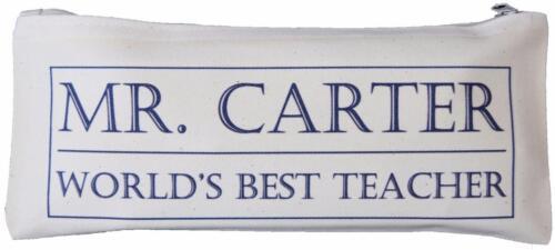 Box design World/'s Best Teacher Pencil Case Personalised