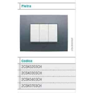 ABB-2CSK0303CH-PLACCA-3-MODULI-COLORE-PIETRA-serie-CHIARA