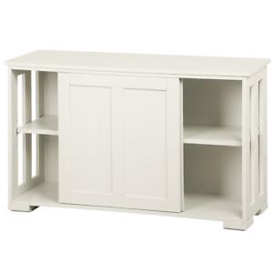 Kitchen Storage Cabinet Buffet Server, White Dining Room Storage Cabinet