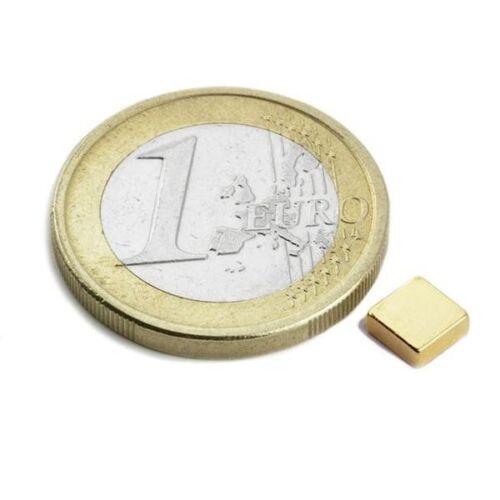 NdFeB Gold 20 x Quadermagnet Magnet-Quader 5 x 3 x 2mm Neodym N52 hält 550g