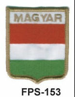 2-1/2'' X 2-3/4 Myanmar Flag Embroidered Shield Patch