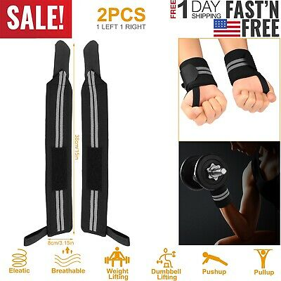 Weight Lifting Padded Training Gym Straps Hand Bar Wrist Support Gloves Fitness