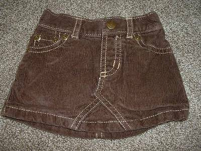 Baby Girls Brown Corduroy Skirt Size 6-12 months mos Spring Fall Infant Old Navy