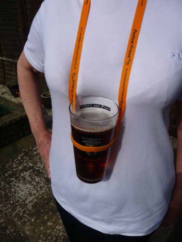 Festival Friend™ V2 Lanyard CAMRA Beer Music Festivals Race Day Glass Holder