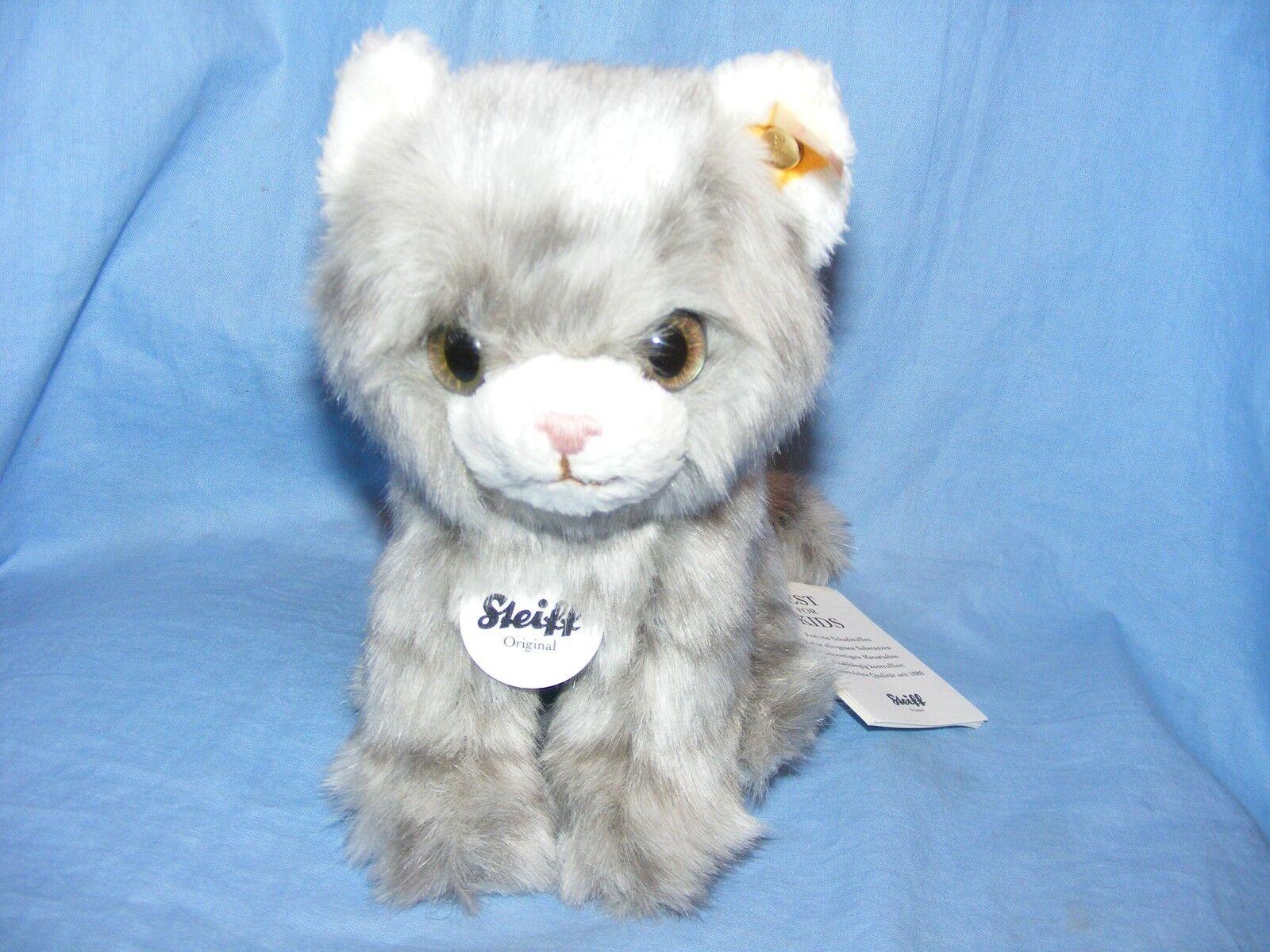 Steiff Kätzchen Minka grau Tabby Katze 084010 Baby Taufe Geburtstagsgeschenk