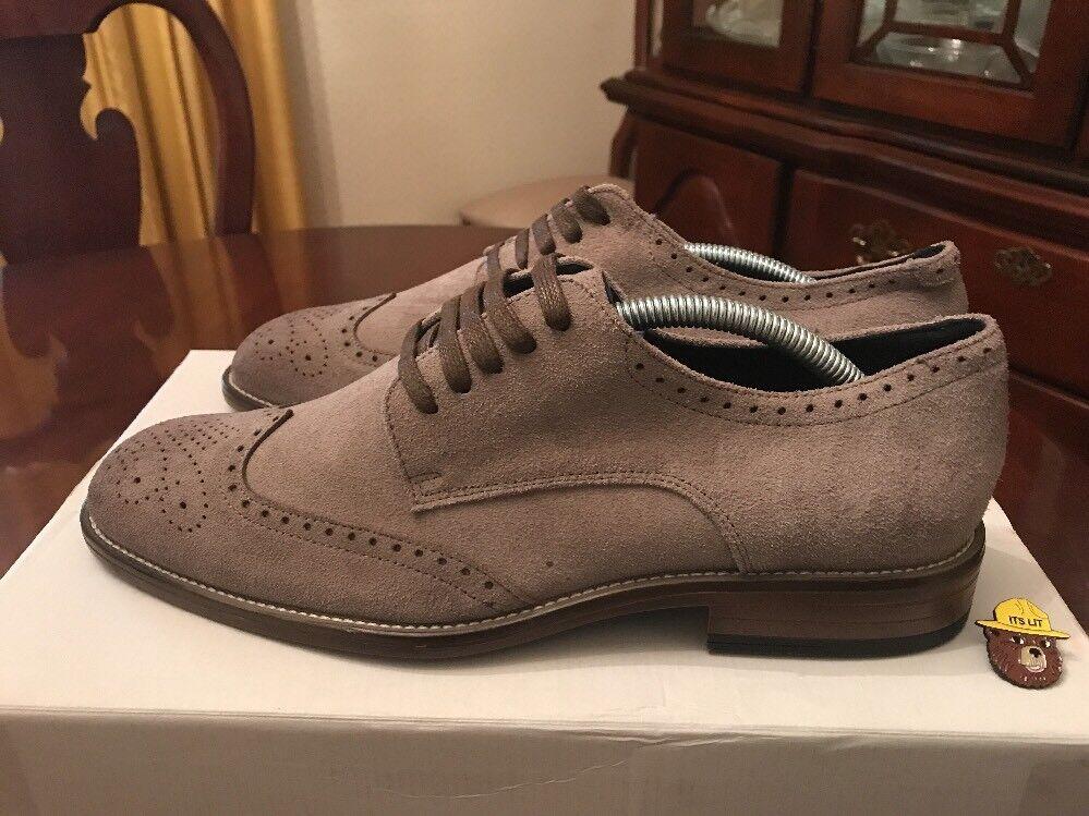 Men Joseph Abboud Suede Wingtip Derbys Grey 9.5 Premium Cole Oxford Murphy