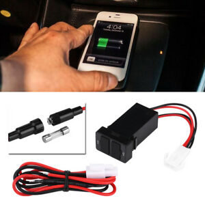 12V-24V-2-1A-Dual-USB-Port-Car-Phone-GPS-Charger-Power-Adapter-Socket-for-Toyota