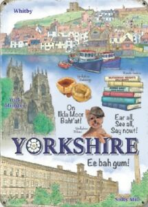 YORKSHIRE-WHITBY-YORK-MINSTER-SALTS-MILL-NOSTALGIC-METAL-PLAQUE-TIN-SIGN-1309