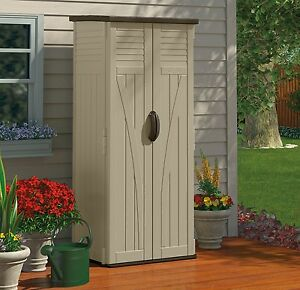 Outdoor Storage Cabinet Garden Shed Tools Patio Vertical