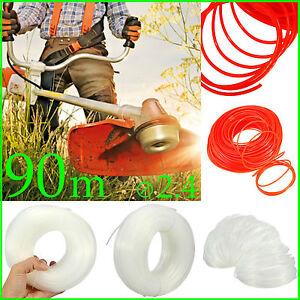 90M X 2.4mm Trimmer Line Spool Whipper Snipper Cord Brush Cutter Grass Nylon Rol