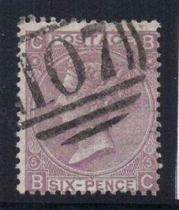 Grossbritannien-1865-Mi-25-Gestempelt-60-6-Pence-Koenigin-V