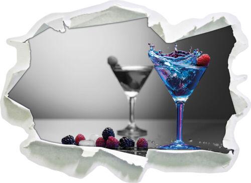 Bleu de délicieux cocktail 3d-Look papier mural autocollant-sticker