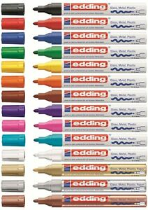 Edding-750-Lackmarker-Creative-Glanzlackmarker-Lackstift-Paint-Marker-2-4mm-NEU