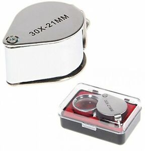 KINGMAS-R-Pocket-30-X-21mm-Glass-Magnifier-Silver-Magnifying-Eye-Jewellers