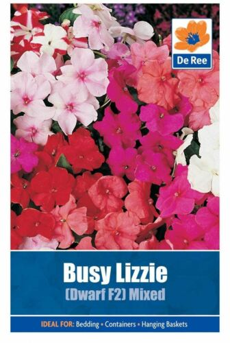 De Ree Seeds Collections Flower Seeds Busy Lizzie Mixed