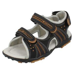 Jcdees Ragazzo Nero/sandali Marroncini N0007 Kids' Clothing, Shoes & Accs