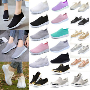 Fashion-Women-039-s-Sneakers-Breathable-Running-Shoes-Athletic-Walking-Tennis-Shoes