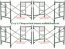 4 Set Of New Snap On 5 X 5 X 7 Masonry Scaffolding With X Brace Cbmscaffold