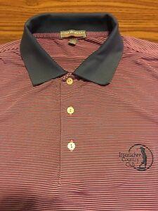 9718040c4411 Mens Peter Millar Summer Comfort Polo Golf Shirt Sz Large Purple ...