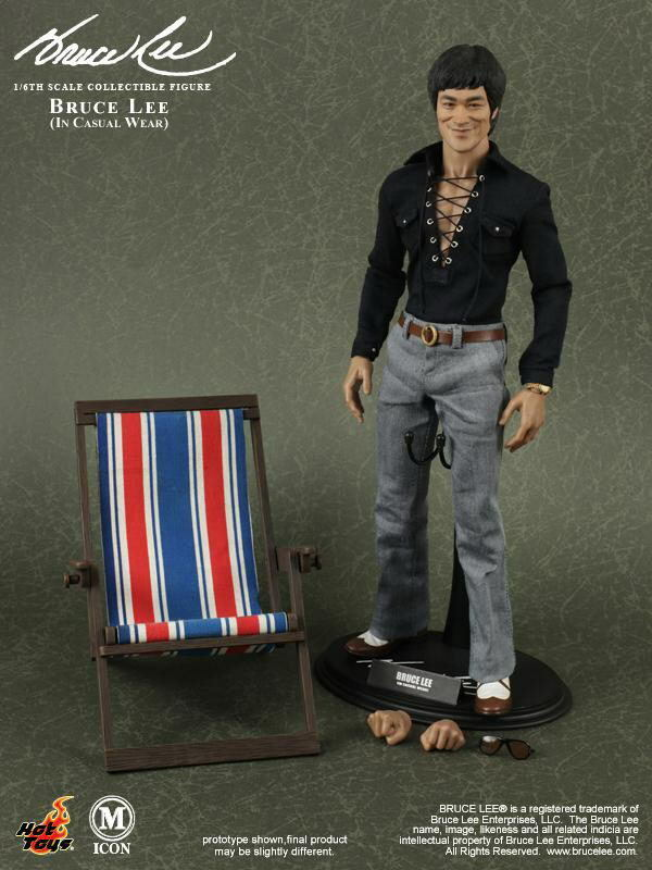 Hot Toys HT MIS11 1 6 Bruce Lee In In Casual Version Action Figure Model 12