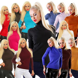 310974 Edler Damen Feinstrick-Pullover Rollkragen Pullover Strickpullover .