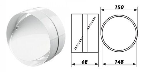 Verbindungsstück Rohrverbinder Rundrhohr mit Rückschlagklappe dalap Ø150mm 3131